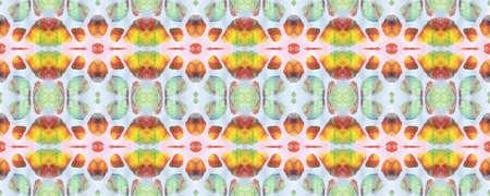 Aztec Rugs. Repeat Tie Dye Ornament. Ikat Asian Design. Abstract Shibori Print. Pastel, Blue and Pink Seamless Texture. Tribal Aztec Rug Pattern. Stock fotó