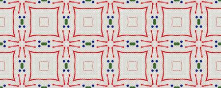 Ethnic Aztec Pattern. Abstract Ikat Print. Repeat Tie Dye Ornament. Ikat Turkish Motif. Green, Red, Yellow, Blue Seamless Texture. Ethnic Aztec Hand Drawn Pattern.
