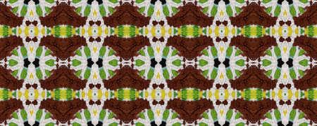 Lombok Textile. Repeatably Tie Dye Rapport. Ikat Islamic Design. Yellow and Black Texture. Abstract Kaleidoscope Design. Ethnic Lombok Textile Pattern. Stock fotó