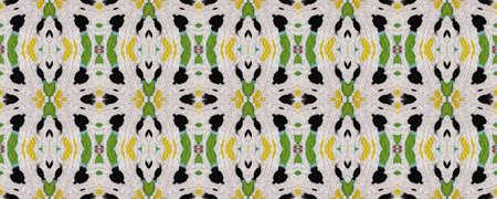 African Motif Pattern. Abstract Kaleidoscope Design. Repeatably Tie Dye Illustration. Ikat African Print. Gray Texture. African Motif Textile Print.