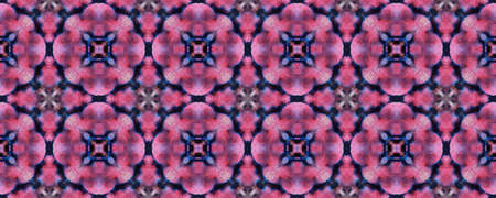 Boho Watercolor Pattern. Repeat Tie Dye Ornament. Ikat Russia Print. Black and Pink Snake Seamless Texture. Abstract Ikat Print. Hand Drawn Boho Watercolor Pattern.