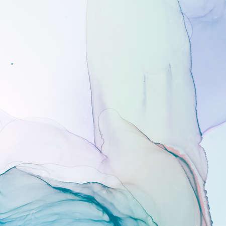 Watercolour Design. Alcohol Ink Wallpaper. Art Pattern. Pastel Watercolour Design. Acrylic Style. Handmade Effect. Fashion Backdrop. Pastel Swirl. Stock fotó