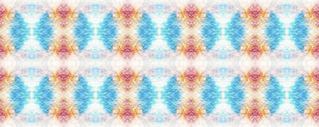 Kaleidoscope Background.  Pastel Violet, Blue and White Textile Print. Multicolor Natural Ethnic Illustration. Tribal Backdrop.  Multicolor Kaleidoscope Seamless Background.