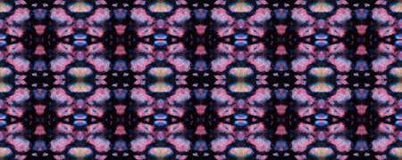 Ethnic Aztec Pattern. Repeat Tie Dye Ornament. Ikat Persian Design. Black and Pink Snake Seamless Texture. Abstract Shibori Print. Ethnic Aztec Hand Drawn Pattern.