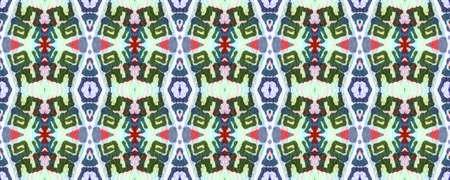 Geometric Painting. Blue, Green, Indigo, Denim Seamless Texture. Abstract Batik Print. Repeat Tie Dye Illustration. Ikat Indonesian Motif. Ethnic Geometric Hand Painting.