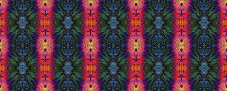 Tie Dye Texture. Neon Fluorescent Textile Print. Traditional Backdrop.  Colorful Natural Ethnic Illustration. Seamless Tie Dye Texture. Stock fotó