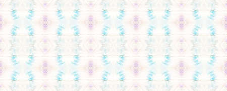 Tie Dye Effect. Asian Backdrop.  Multicolor Natural Ethnic Illustration. Pastel Violet, Blue and White Textile Print. Colorful Tie Dye Effect.