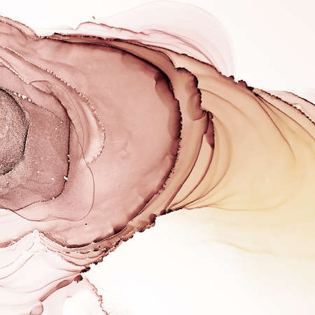 Watercolour Pattern. Space Paint. Sketch Canva. Sepia Retro Watercolour Pattern. Graphic Banner. Alcohol Ink Design. Aquarelle Backdrop. Sepia Retro Image.