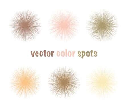 Set of vector color editable fur spots. Nude pastel circles. Gentle beige abstract shapes for your design