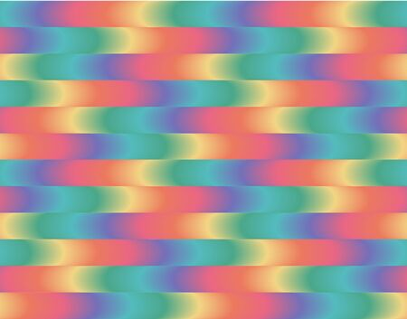 Bright multicolor seamless pattern Summer wavy stripes background Endless ornament