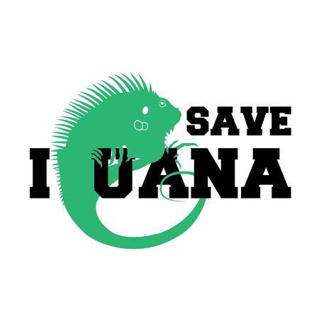 Iguana ontwerp Stock Illustratie