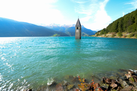 The Bell Tower of Curon South Tyrol (Italy)