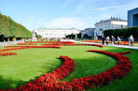Mirabell Garden, Beautiful Garden in Salzburg (Austria) Editorial