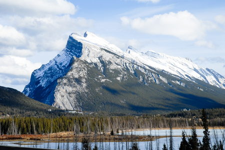 Mount Rundle in Winter, Canadian Rockies, Alberta, Canada