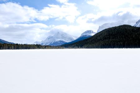 rockies: Waterfowl Lake in Winter, Canadian Rockies, Alberta, Canada