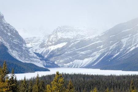 rockies: Hector Lake in Winter, Canadian Rockies, Alberta, Canada