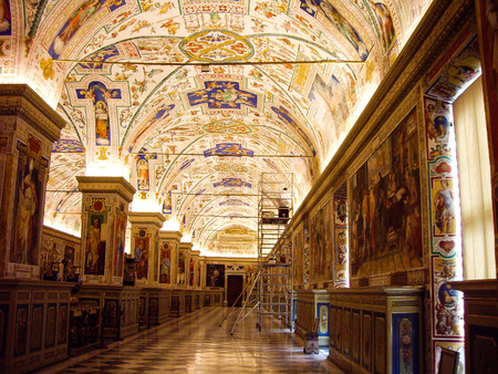 Sistine Hall in the Vatican Library, Vatican City