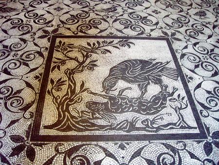 ��カン美術館 モザイク ー ピオ・クレメンティーノ美術館 (��カン市国) Mosaic, Museo Pio-Clementino, Vatican Museums, Vatican City Banco de Imagens