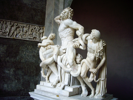 Laocoonte, Cortile Ottadono, Museo Pio-Clementino, Vatican Museums, Vatican City