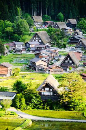 sho: 世界遺産・白川郷 春の夕方(岐阜県) Shirakawa-go in the Spring Evening, UNESCO World Heritage Sites, Japan