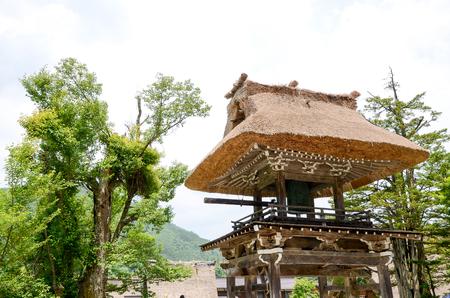 世界遺産・白川郷 妙善寺鐘楼(岐阜県) Bell Tower in Shirakawa-go in the Spring, UNESCO World Heritage Sites, Japan