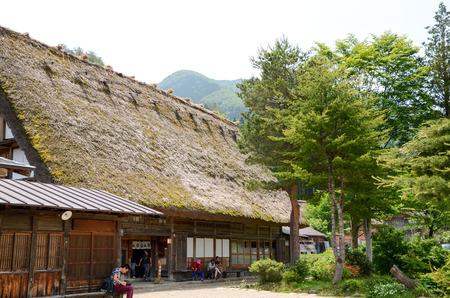 sho: Shirakawa-go in the Spring, UNESCO World Heritage Sites, Japan Editorial