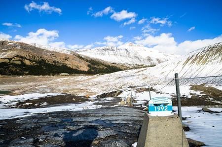 Athabasca Glacier, Canadian Rockies Stock Photo