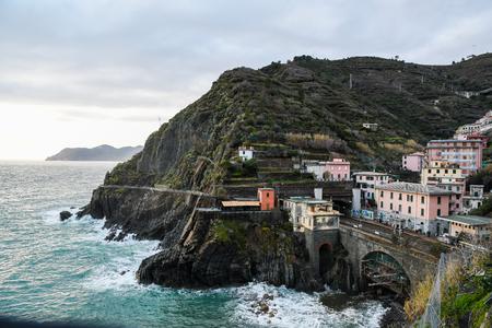 Riomaggiore Railway Station - Cinque Terre (5 Terre), Five village on the Italian Riviera, Liguria, Italy