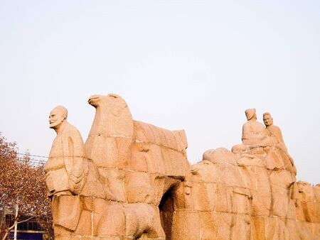 Monument for Starting Point of Silk Road, Xi'an, China Stockfoto