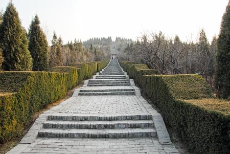 Mausolée du premier empereur Qin à Xi'an, Chine Banque d'images