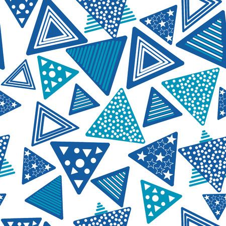blue triangle seamless pattern Çizim