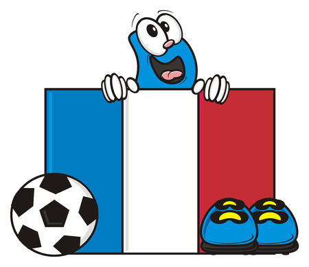 kick around: France flag and soccer ball with Bootsy