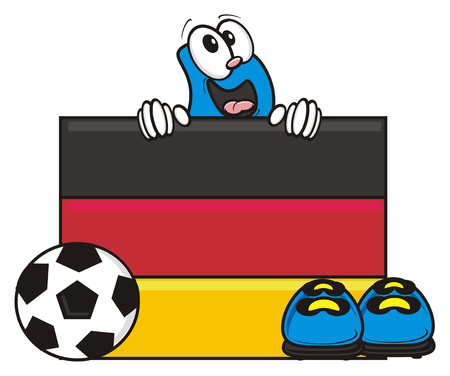kick around: Germany flag and soccer ball with Bootsy