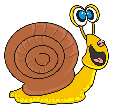 snail smiling Stock Photo