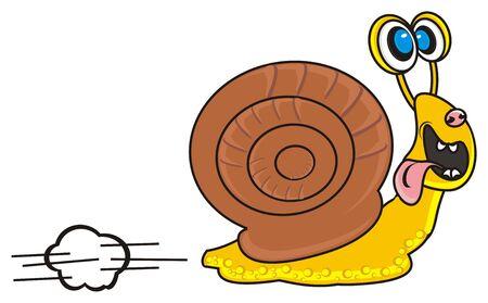 funny snail runaway