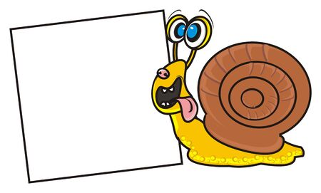 snail found a blank plate