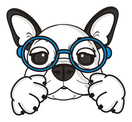 french bulldog: french bulldog puppy with glasses