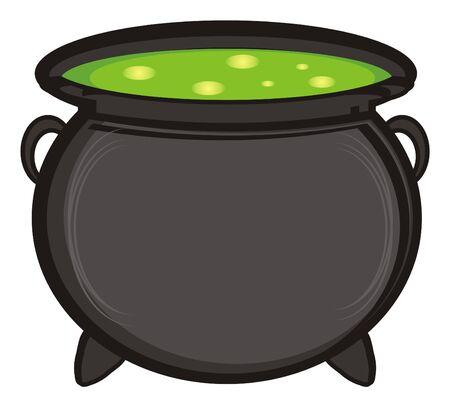 poison: full pot of poison Stock Photo