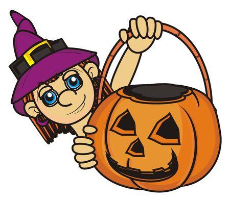 empty basket: wich hold an empty basket of pumpkin