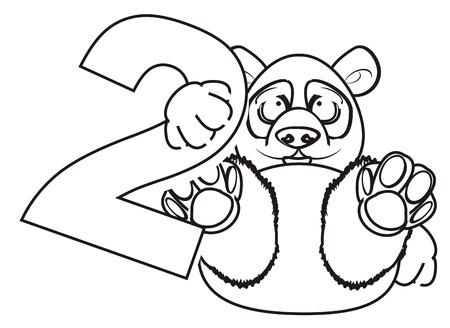 Panda Para Colorear Mantenga Un Número Uno Fotos, Retratos, Imágenes ...