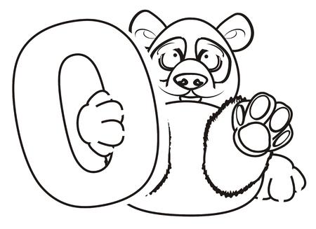 Panda Para Colorear Ocupan Un Número De Dos Fotos, Retratos ...