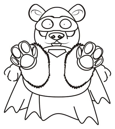 Coloring Panda Hold A Number Six Stock Photo, Picture And Royalty ...