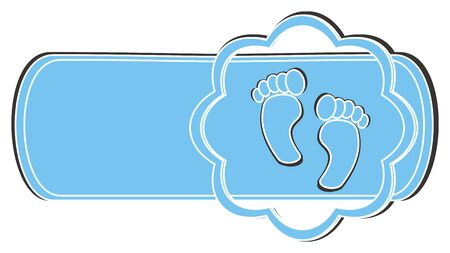 foots: clean banner with two blue foots