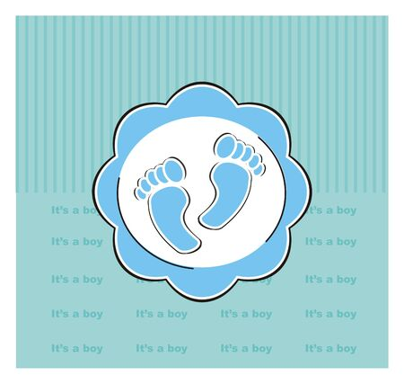 foots: greeting card with two blue foots Stock Photo