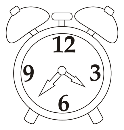 Coloring Alarm Clock Stock Photo, Picture And Royalty Free Image ...
