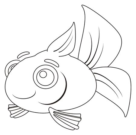 gills: coloring happy fish Stock Photo