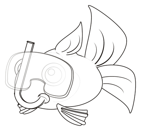 gills: coloring fish in mask