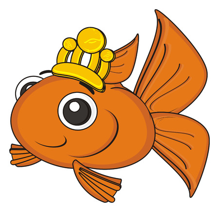 gills: happy goldfish with gold crown