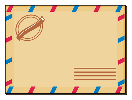sender: clean color envelope Stock Photo