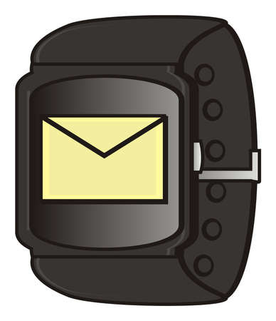 display: message on the display of smart watch